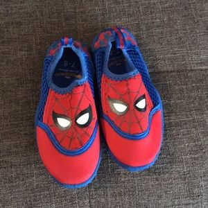 Toddler Spider-Man swim shoes NEW 7/8